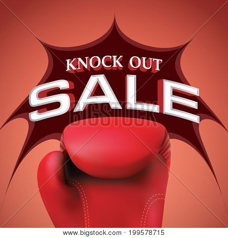 Knock Out Sale Heading Design For Banner Or Poster. Sale And Discounts Concept. Vector Illustration.