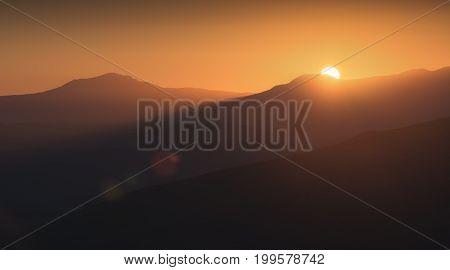 First Rays Of Raising Sun