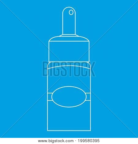 Medical drops icon blue outline style isolated vector illustration. Thin line sign