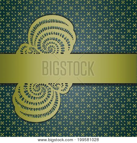 Floral abstract background with ribbon. Illustration 10 version