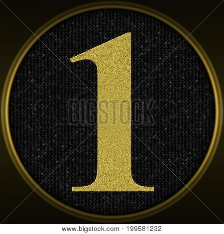 Decorative texture with number one - gold pattern