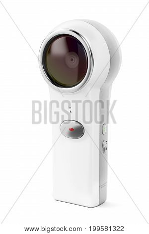 360 degree camera on white background, 3D illustration