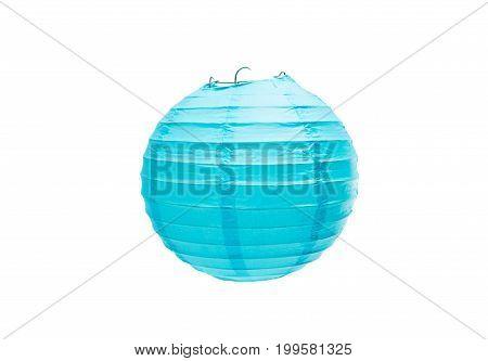 Chinese paper lantern isolated on white background