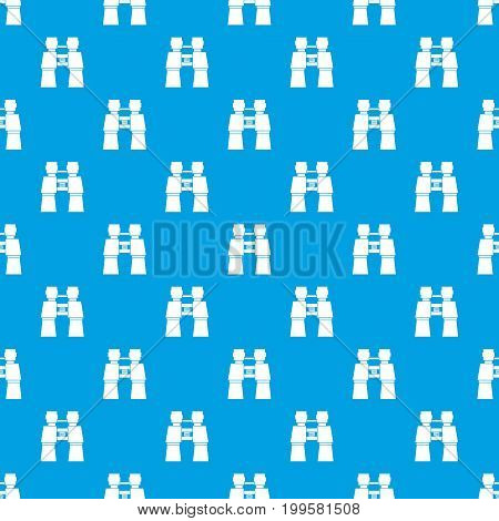 Compass pattern repeat seamless in blue color for any design. Vector geometric illustration