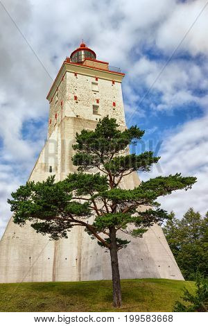 Large ancient lighthouse in Kopu, Hiiumaa island, Estonia. It is one of the oldest lighthouses in the world, having been in continuous use since its completion in 1531.