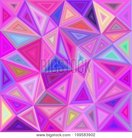 Pink chaotic vector triangle mosaic tile background design