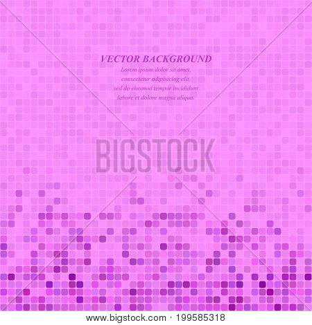 Magenta abstract pixel square mosaic background design
