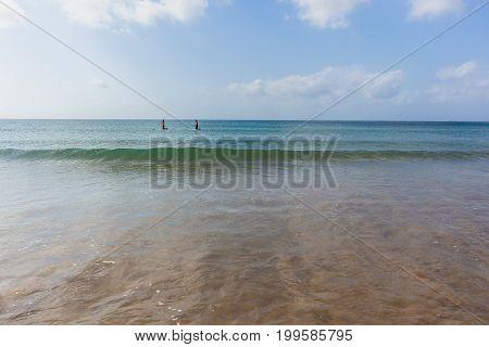 Ocean Paddle Boarders Beach
