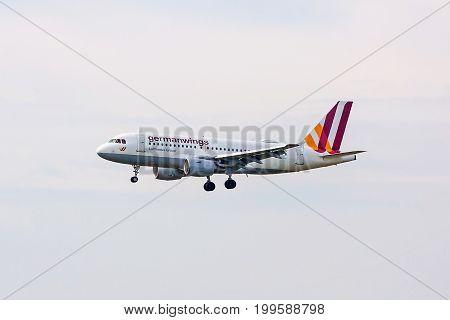 Germanwings Airplane During Landing
