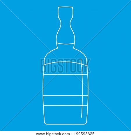 Brandy bottle icon blue outline style isolated vector illustration. Thin line sign