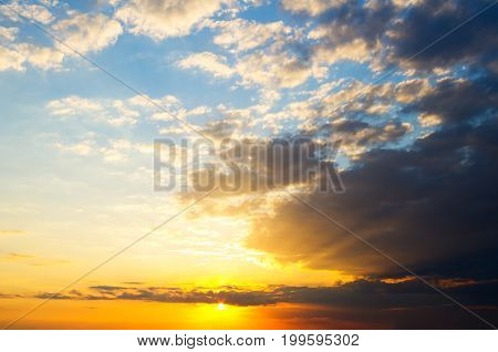 sunset sky clouds.evening sky with mysterious clouds