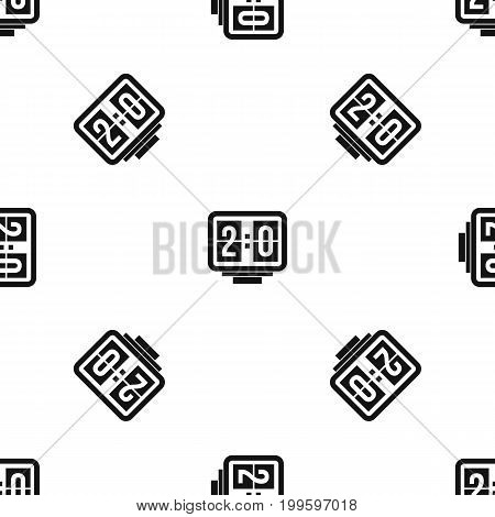 Soccer scoreboard pattern repeat seamless in black color for any design. Vector geometric illustration