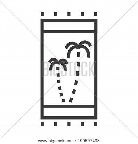 A beach towel vector illustration with the palms pattern on it.