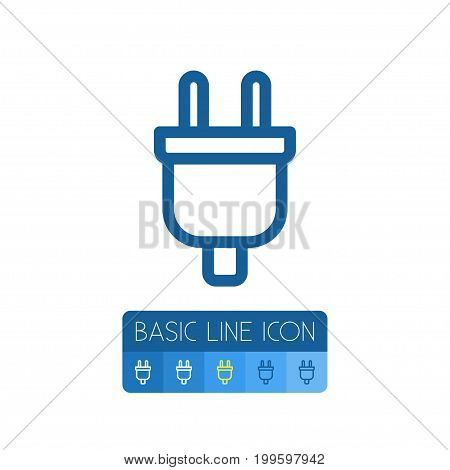 Connection Vector Element Can Be Used For Adapter, Plug, Connection Design Concept.  Isolated Adapter Outline.