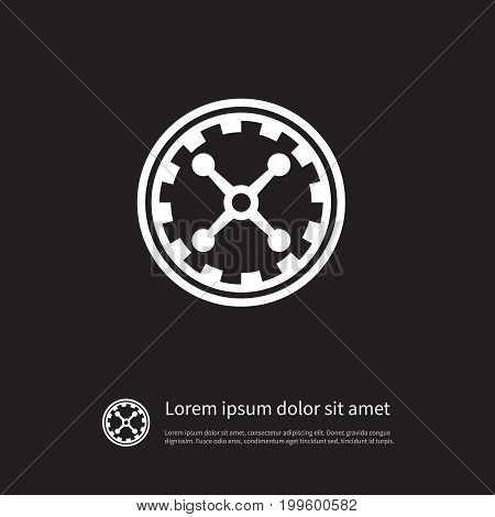 Fortune Vector Element Can Be Used For Fortune, Chance, Wheel Design Concept.  Isolated Wheel Icon.