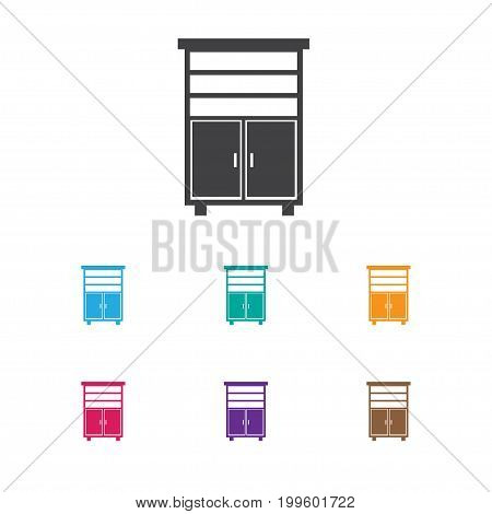 Vector Illustration Of Furnishings Symbol On Material Cupboard Icon