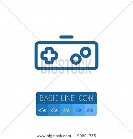Gamer Vector Element Can Be Used For Joystick, Keypad, Gamer Design Concept.  Isolated Keypad Outline.