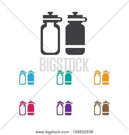 Vector Illustration Of Lifestyle Symbol On Sport Bottle Icon