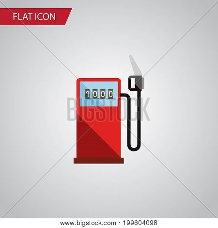 Petrol Vector Element Can Be Used For Gas, Station, Petrol Design Concept.  Isolated Gas Station Flat Icon.