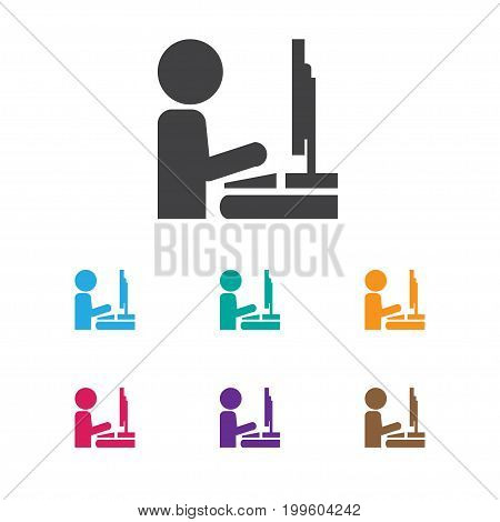 Vector Illustration Of Office Symbol On Administrator  Icon