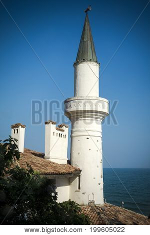 Balchik Palace overlooking the Black Sea in northern Bulgaria