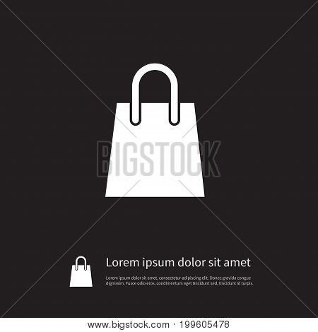 Merchandise Vector Element Can Be Used For Shopping, Bag, Merchandise Design Concept.  Isolated Shopping Bag Icon.
