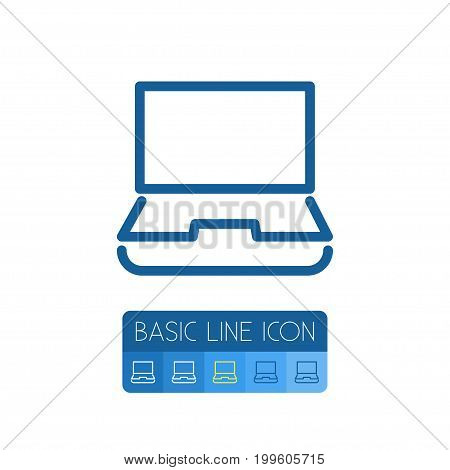 Desktop Vector Element Can Be Used For Notebook, Computer, Desktop Design Concept.  Isolated Notebook Outline.