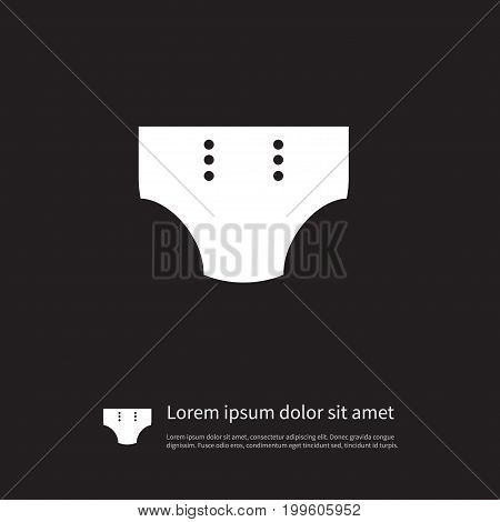Diaper Vector Element Can Be Used For Diaper, Pampers, Nappy Design Concept.  Isolated Pampers Icon.