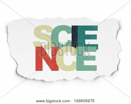 Science concept: Painted multicolor text Science on Torn Paper background