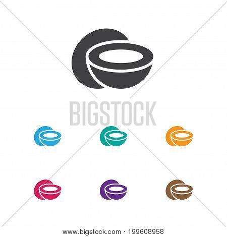 Vector Illustration Of Kitchenware Symbol On Coconut Icon