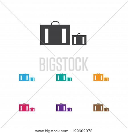 Vector Illustration Of Trip Symbol On Suitcase Icon