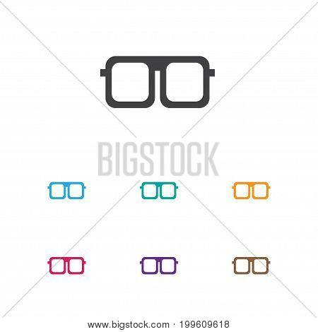 Vector Illustration Of Journey Symbol On Sunglasses Icon