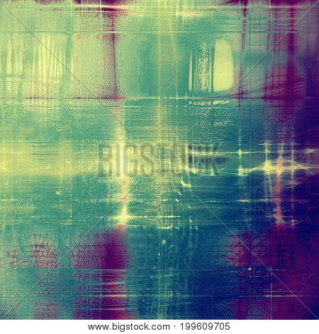 Traditional grunge background, scratched texture with vintage style design and different color patterns