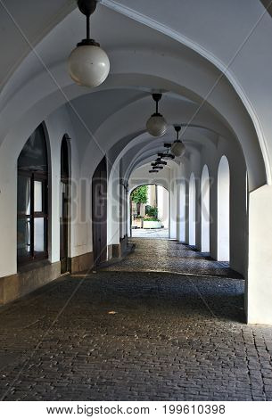 Arched at the Old Town in Prague the city