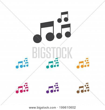 Vector Illustration Of Melody Symbol On Sound Note Icon