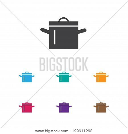 Vector Illustration Of Restaurant Symbol On Cooking Pot Icon