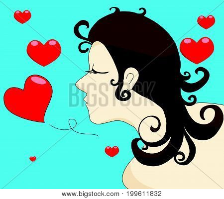 Woman finding true love Concepts for Valentines Day