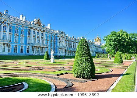Catherine Palace in Tsarskoe Selo. St. Petersburg.