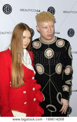 LOS ANGELES - AUG 12:  Larsen Thompson, Shaun Ross at the 5th Annual Beautycon Festival Los Angeles at the Los Angeles Convention Center on August 12, 2017 in Los Angeles, CA