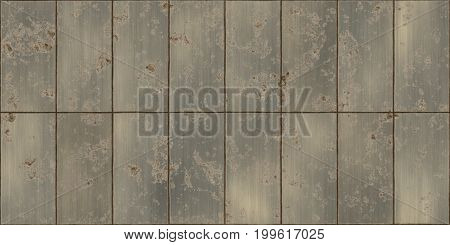 Seamless Rusty Dirty Bronze Metal Tile Plate Texture
