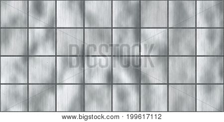 Silver Seamless Metal Tile Plate Texture