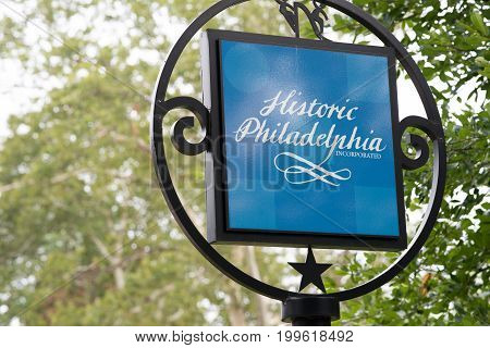 PHILADELPHIA, USA - AUGUST 12: Franklin Square in Center City Philadelphia on August 12, 2017