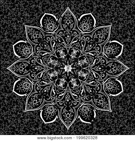Islamic style brochure, flyer design, flower elements and ornament. Card for cafe, restaurant, shop, print. Border. India, Arabic Dubai turkish Islam pakistan ottoman motifs