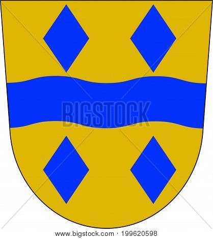 Coat of arms of Enzkreis is a district in the northwest of Baden-Wurttemberg Germany. Vector illustration from the
