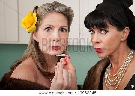 Women Smoking Weed