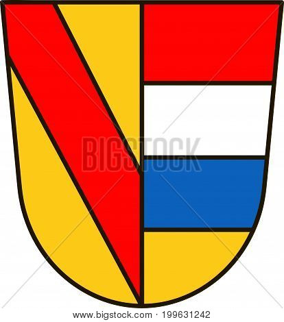 Coat of arms of Pforzheim is a city in Baden-Wurttemberg in the southwest of Germany. Vector illustration from the