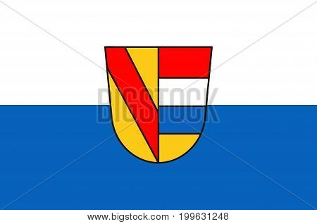 Flag of Pforzheim is a city in Baden-Wurttemberg in the southwest of Germany. Vector illustration from the