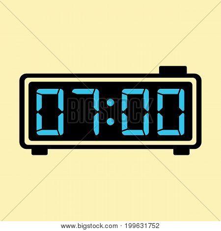 Digital Clock Alarm Electronic Icon