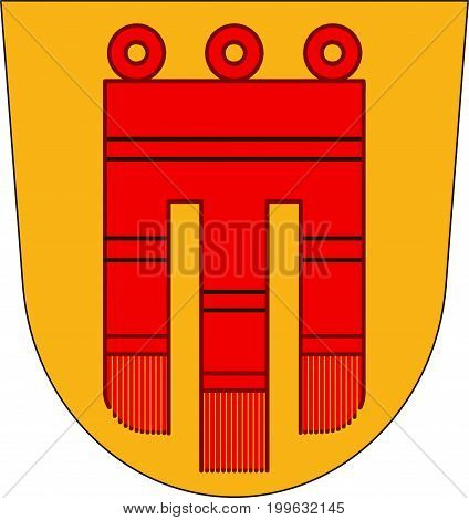 Coat of arms of Boblingen is a city in the middle of Baden-Wurttemberg Germany. Vector illustration from the