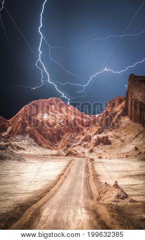Lunar Valley In The Atacama Desert